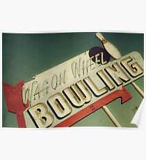 Wagon Wheel Bowling Poster