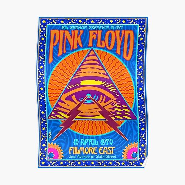 PINK FLOYD ORIGINAL CONCERT POSTER 1970 NYC FILMORE EAST AQUA COLOR Poster