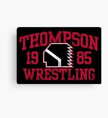 Thompson Wrestling Canvas Print