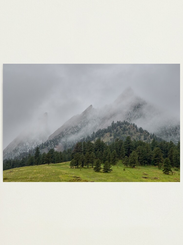 Alternate view of The Wild and Wet Flatirons Photographic Print