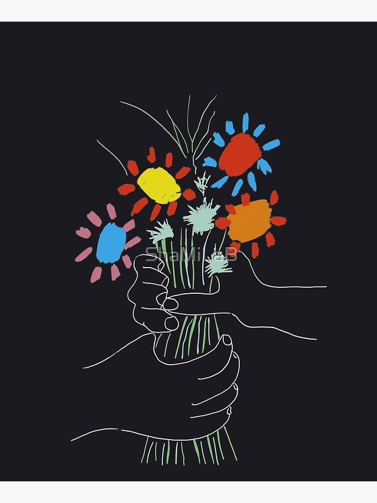 Bouquet - Picasso Line Art by ShaMiLaB