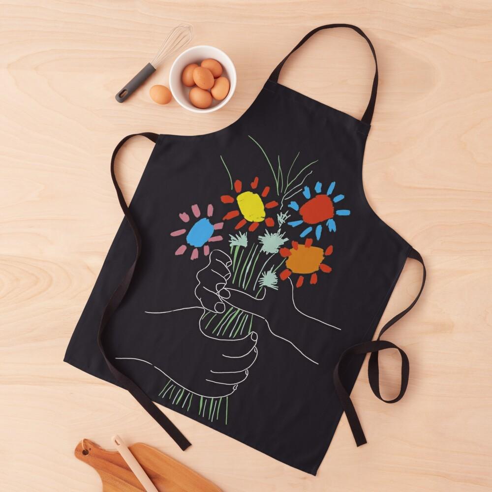 Bouquet - Picasso Line Art Apron