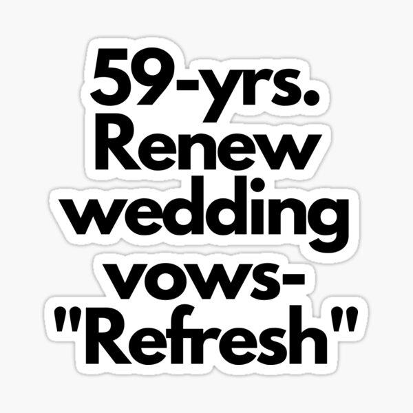 Refresh at 59. Sticker