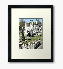 Canal St. Cemetery Framed Print