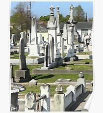 Canal St. Cemetery Poster