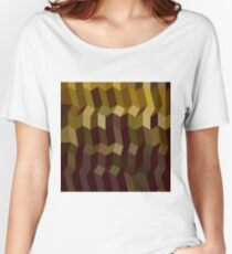 Caput Mortuum Brown Abstract Low Polygon Background Women's Relaxed Fit T-Shirt