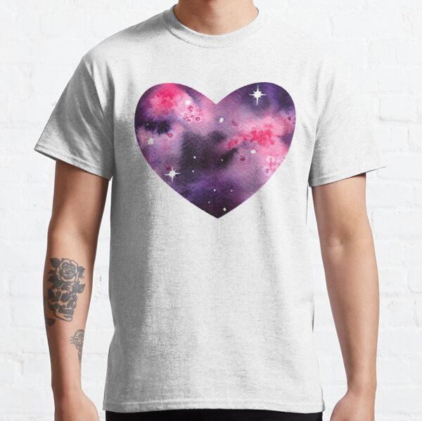 Pink Space Heart Classic T-Shirt