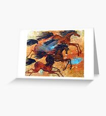 Desert Run Greeting Card