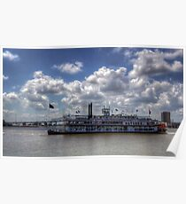 Steamboat Natchez Riverboat Poster