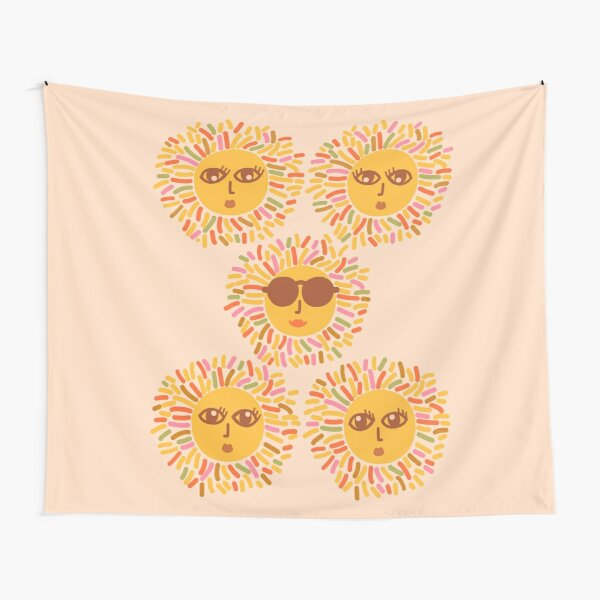 Retro Sunshine Parti - Summer vibes #positivevibes Tapestry