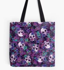 Flowers and Skulls Tote Bag
