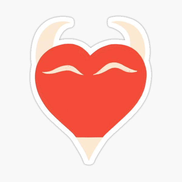 DEVILISH HEART  Sticker
