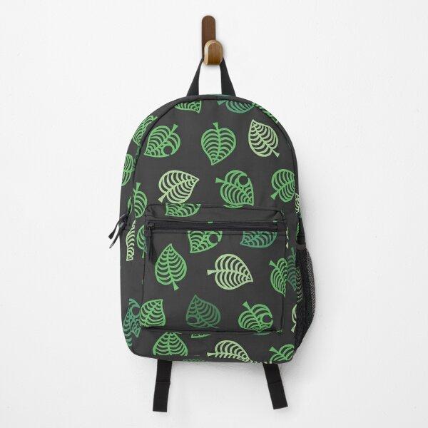 Nook Leaf Aloha Logo - Green on Grey Backpack