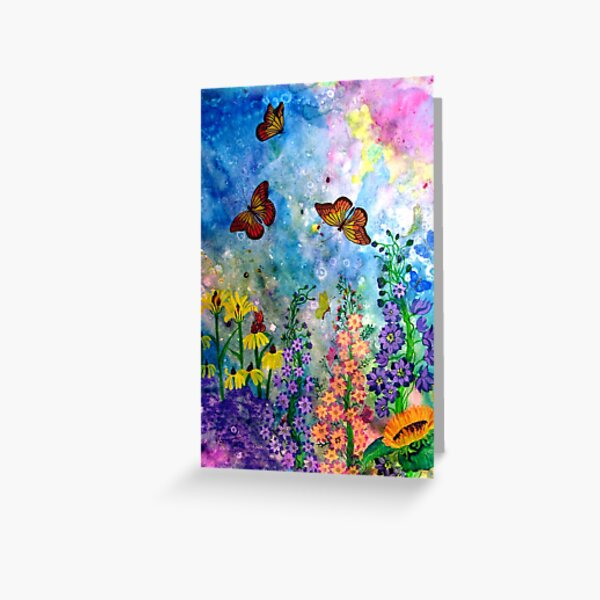 Butterfly Garden (rectangle) Greeting Card