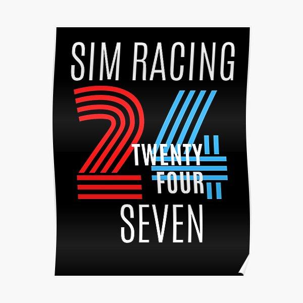 SIM RACING 24/7 TEE Poster