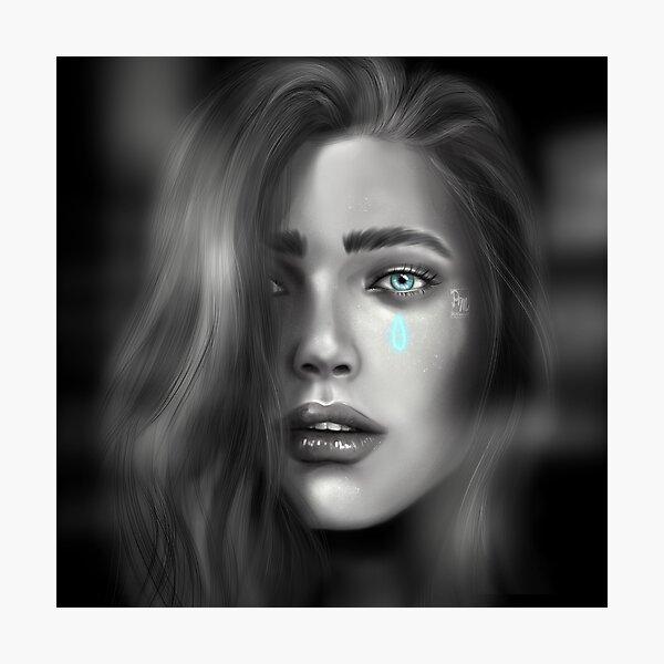 Blue tear Photographic Print