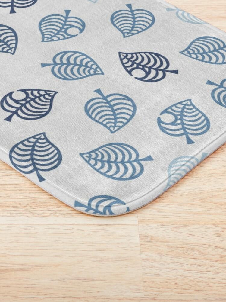 Alternate view of Nook Leaf Aloha Logo - Blue on White  Bath Mat