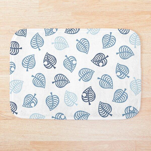 Nook Leaf Aloha Logo - Blue on White  Bath Mat