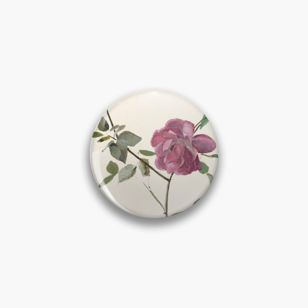 Rose against the wall Pin