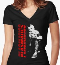 PLASMATICS Wendy O Williams Rocks Women's Fitted V-Neck T-Shirt