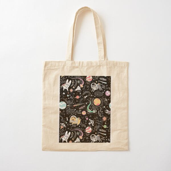 Space Animals Cotton Tote Bag