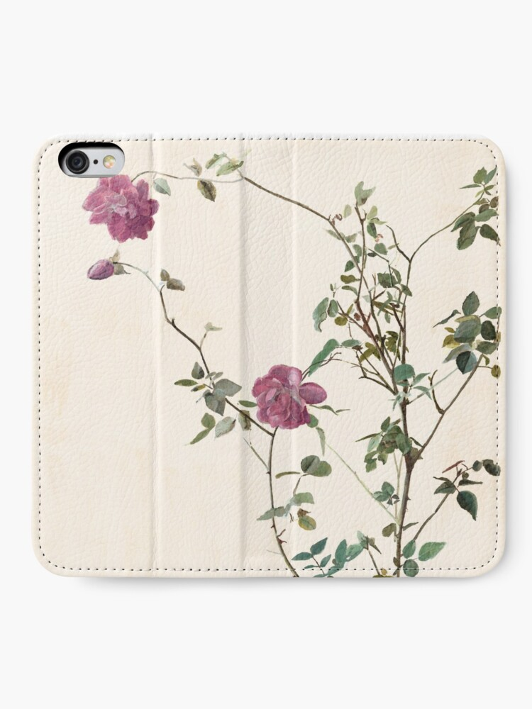 Alternate view of Rose against the wall iPhone Wallet