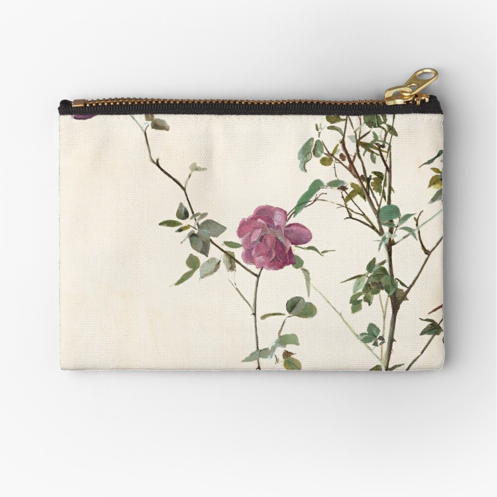 Rose against the wall Zipper Pouch