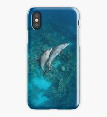 Sweet dolphin couple iPhone Case