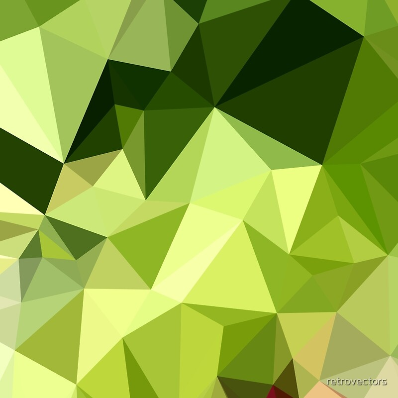 Quot Electric Lime Green Abstract Low Polygon Background Quot Art