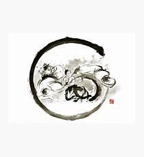 Aikido enso circle martial arts sumi-e original ink painting artwork Photographic Print