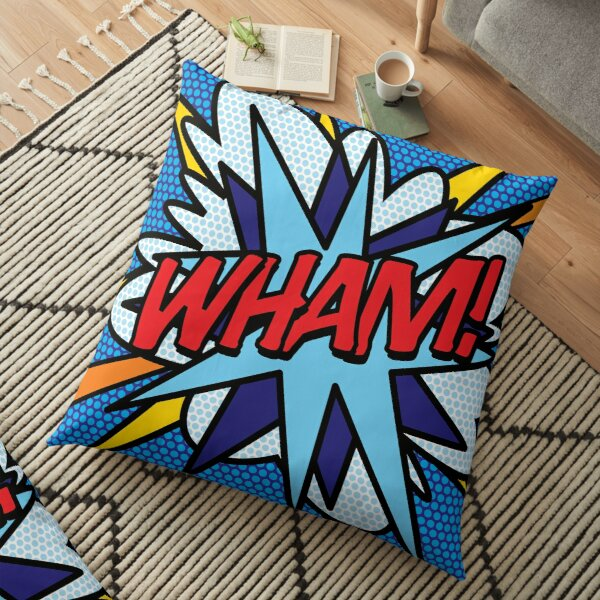 WHAM Comic Book Pop Art Modern Cool Graphic Floor Pillow