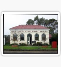 National Bank in Old Gippstown, Moe Gippsland Sticker