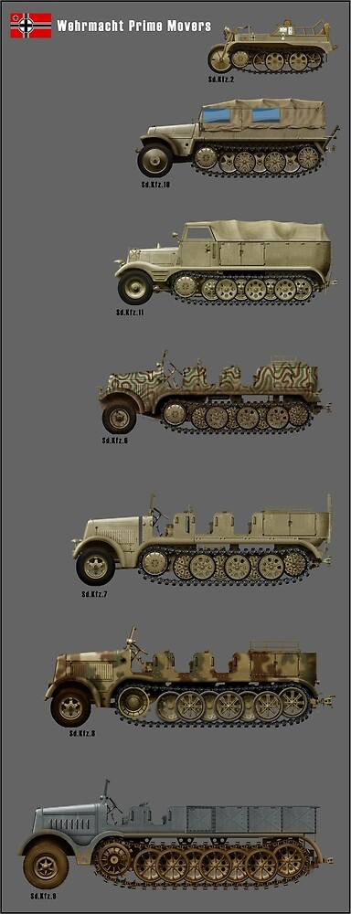 german prime movers ww2