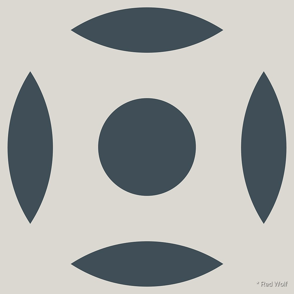 Geometric Pattern: Intersect Circle: Pebble by * Red Wolf