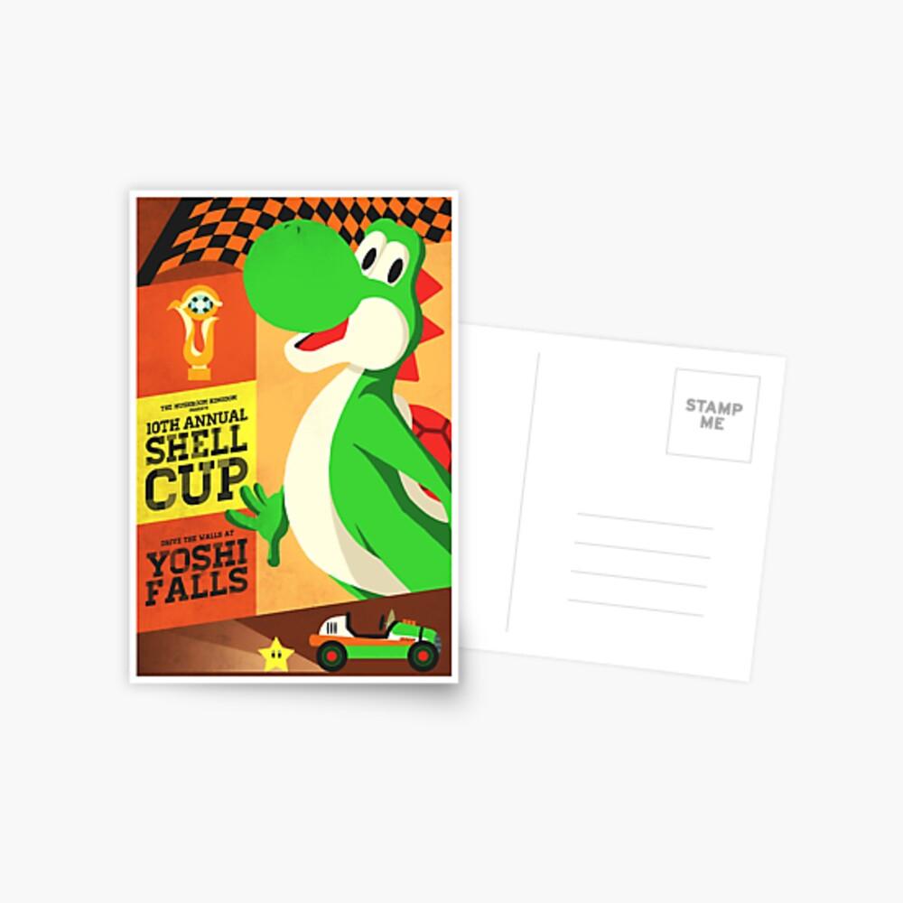 Yoshi Mario Kart Postkarte