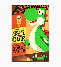 Yoshi Mario Kart Photographic Print