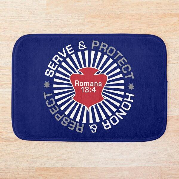 Serve Protect Honor Respect Bath Mat
