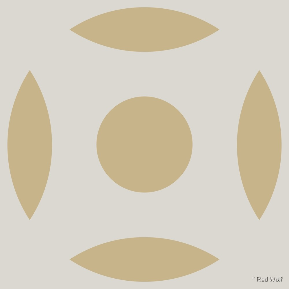 Geometric Pattern: Intersect Circle: Sandstone by * Red Wolf