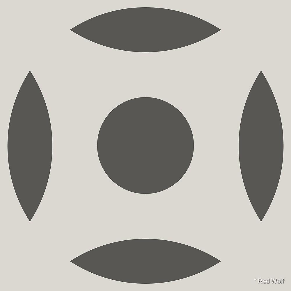 Geometric Pattern: Intersect Circle: Slate by * Red Wolf
