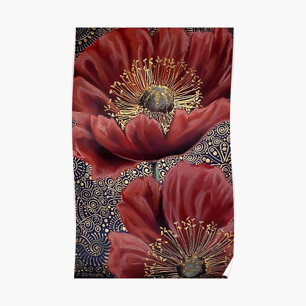 Red Poppies II Poster