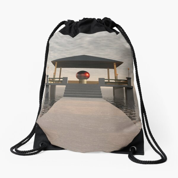 Waterfront Structure Drawstring Bag