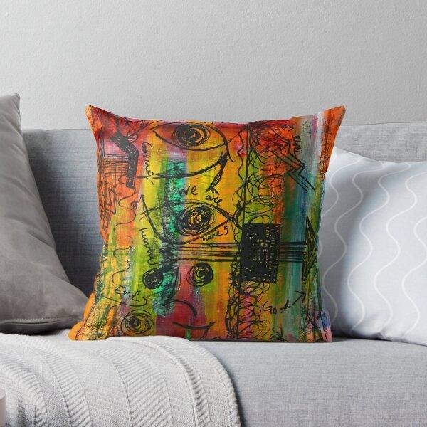 Graffiti 10 Throw Pillow