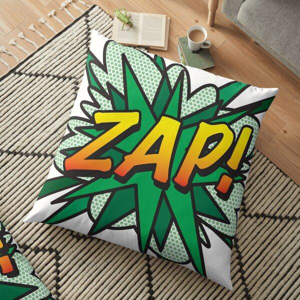 ZAP Comic Book Flash Pop Art Retro Fun Floor Pillow