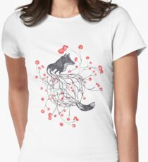 Blossom Fox Women's Fitted T-Shirt