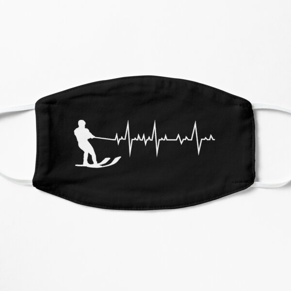 Water Skiing Heartbeat Ski Sports Lover Gift Mask