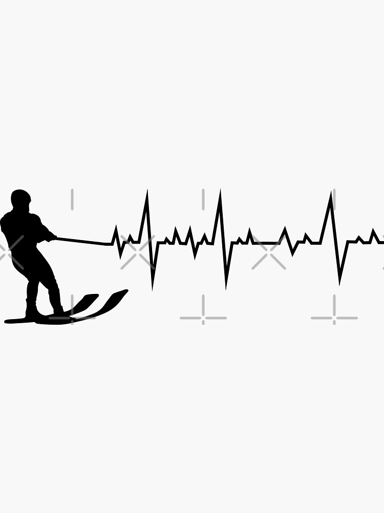 Water Skiing Heartbeat Ski Sports Lover Gift by TastefulTees