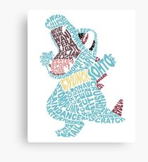 Totodile Typography Canvas Print