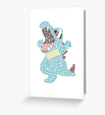 Totodile Typography Greeting Card