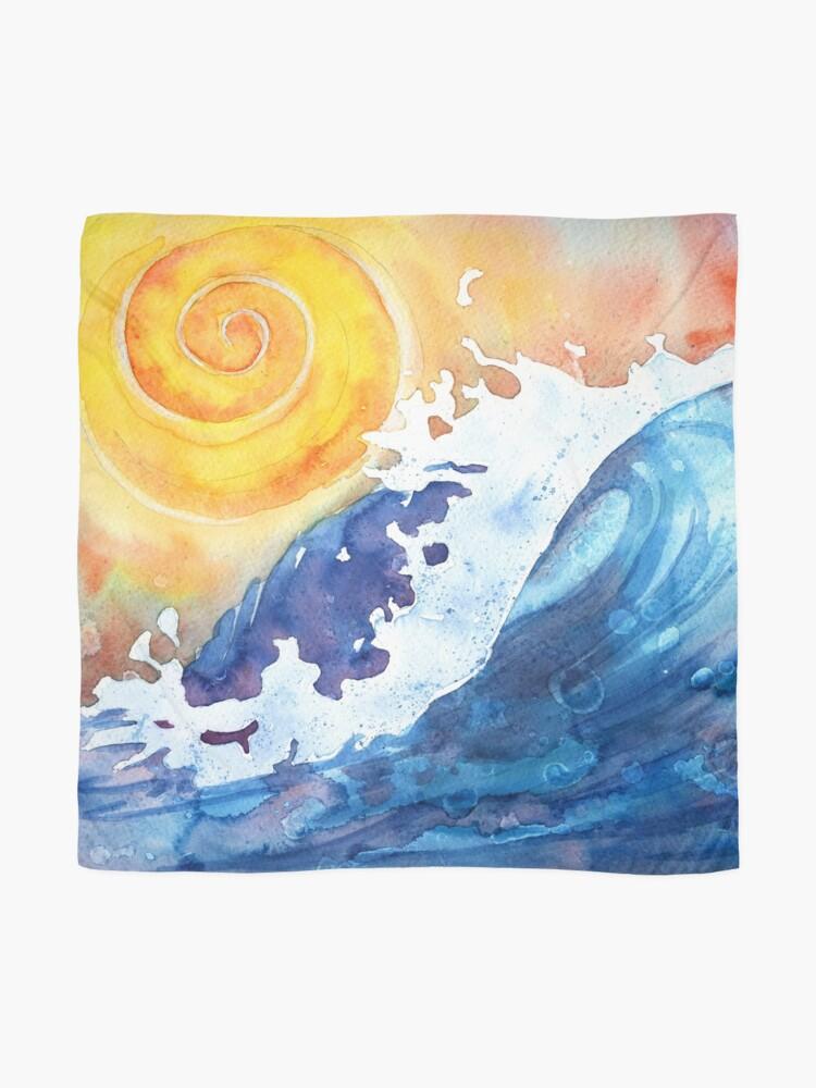 Alternate view of Ocean Wave Scarf