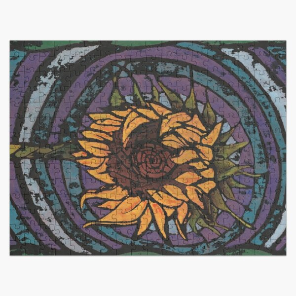 Batik Sunflower (Original Version) Jigsaw Puzzle